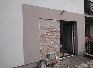 ściana zcegieł